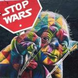 """Stop Wars"" ~Mural by Street Artist Eduardo Kobra at Wynwood Arts District/Miami"